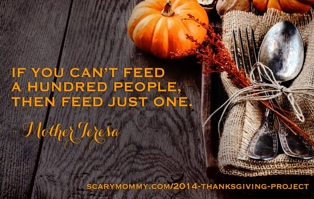 The Scary Mommy Thanksgiving Project - A little off topic