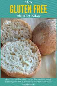 EASY Gluten free, rice free, dairy free, vegan artisan rolls