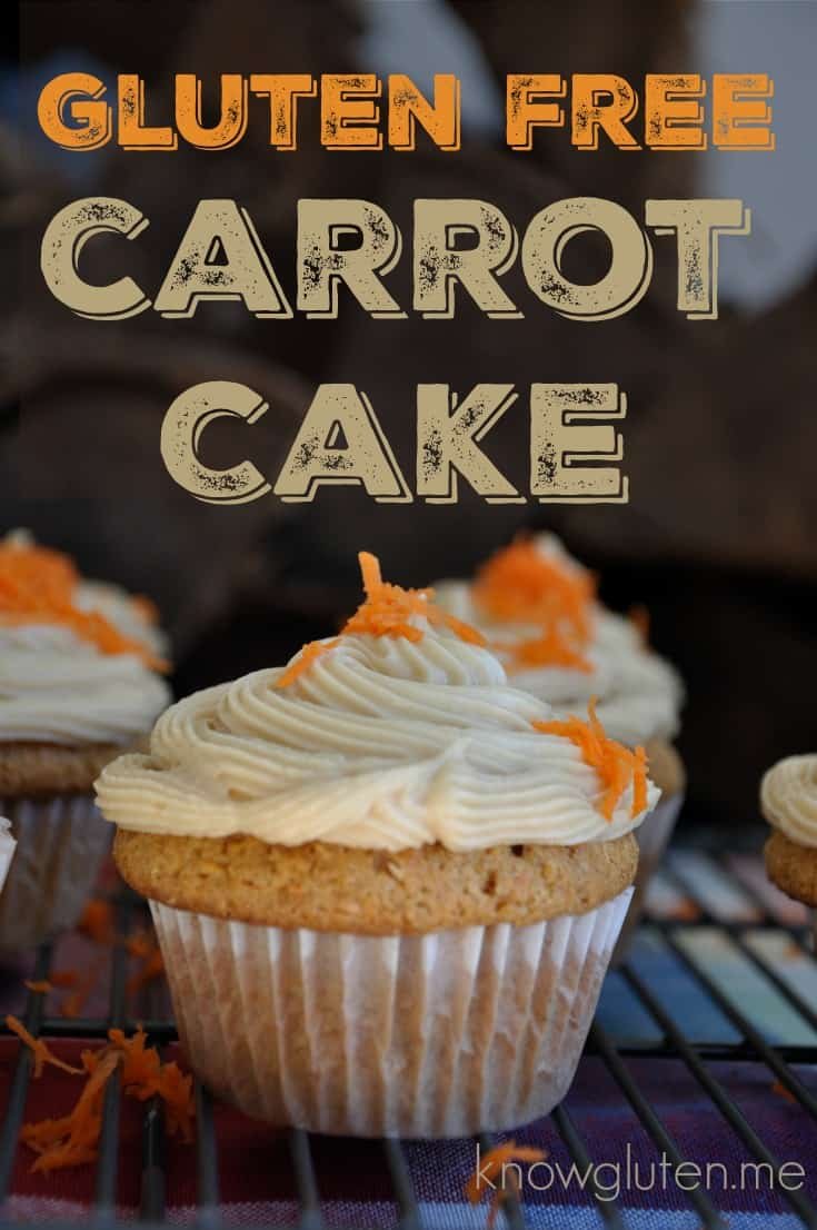 easy gluten free carrot cake using Bob's Red Mill All Purpose Gluten Free Flour from knowguten.me