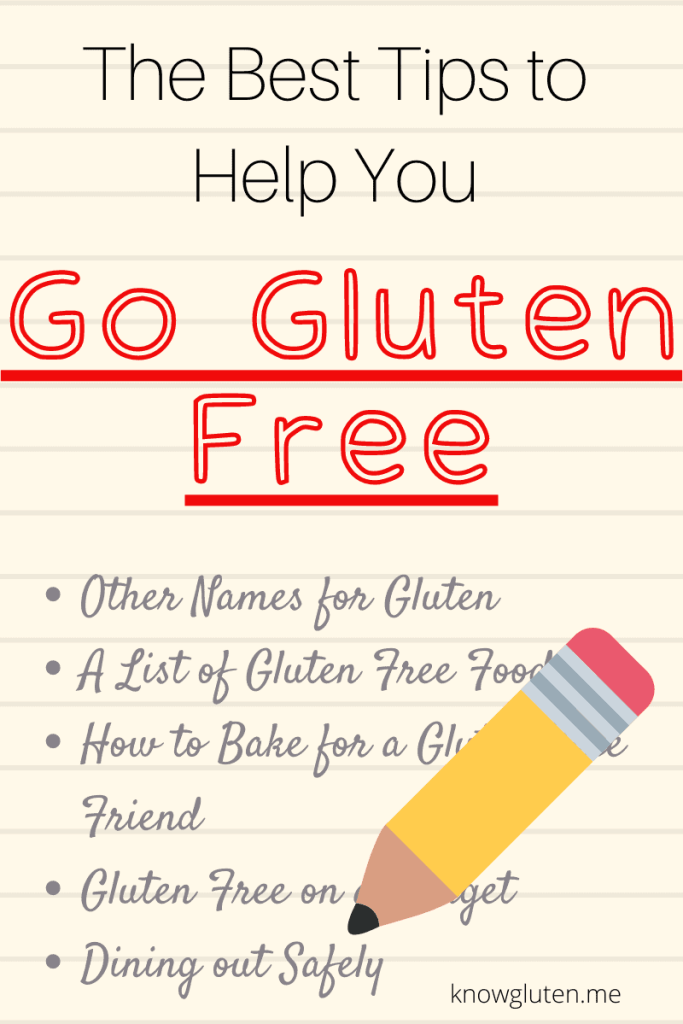 the best tips to help you go gluten free graphic