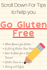 graphic of tips to help you go gluten free