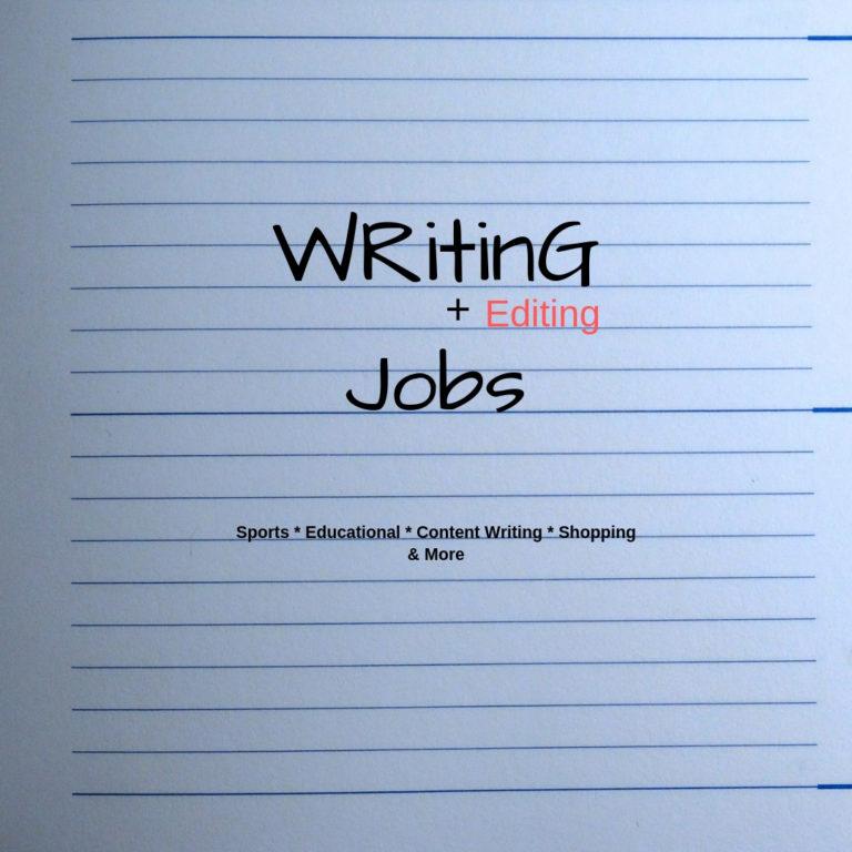Freelance Writing Jobs & Editing Jobs