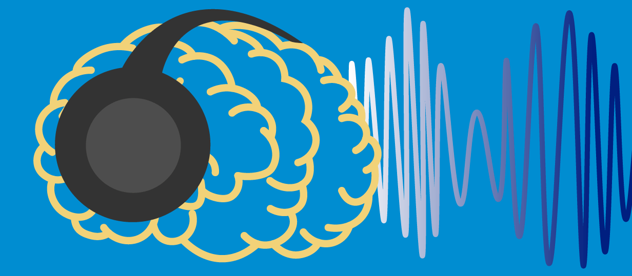 Binaural effect on brain