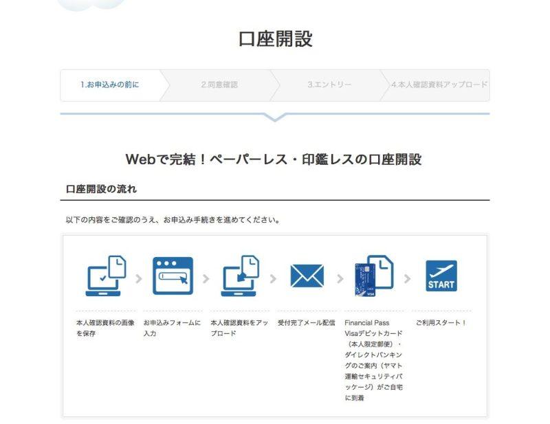 ANAマイレージクラブ Financial Pass Visaデビットカード 申し込みイメージ1です