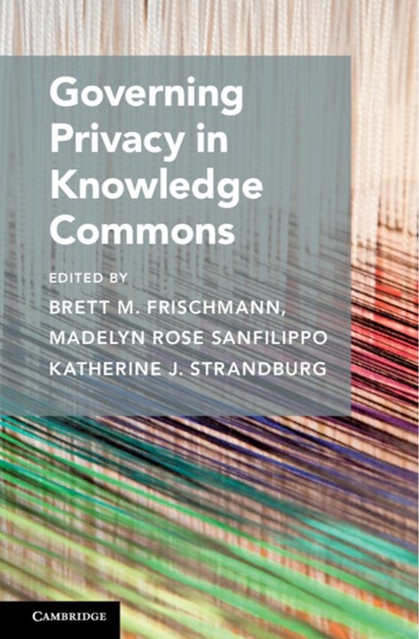 Governing Privacy in Knowledge Commons - cover