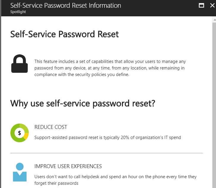 Figure 11 - Self-Service Password Reset dialog 1