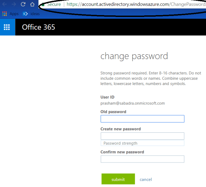 Figure 8 - Change password by self
