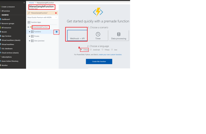 Azure – Add new function to our Azure app