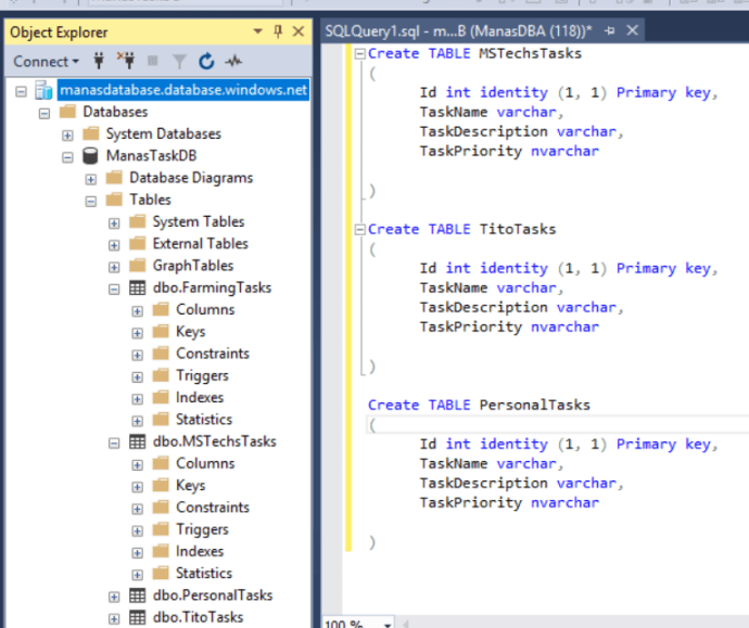 Azure – Successfully Connected to Azure SQL Database