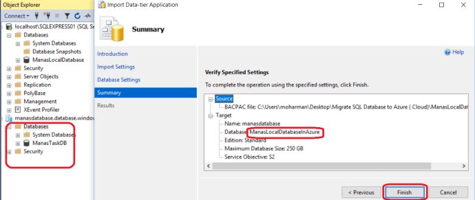 Azure -Import Local Database To Azure_4
