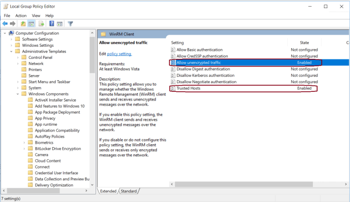 Local Group Policy Configuration