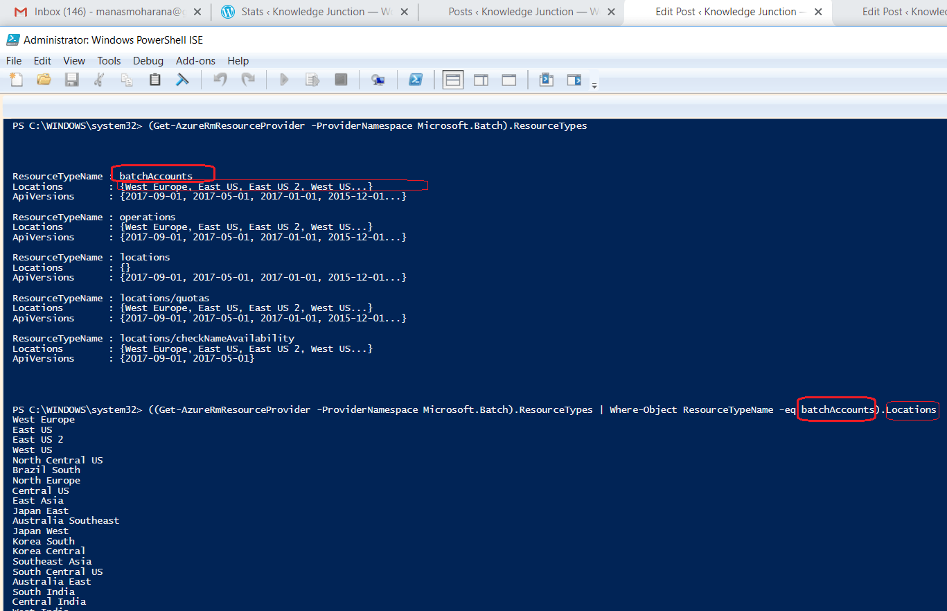 Supported location to a resource