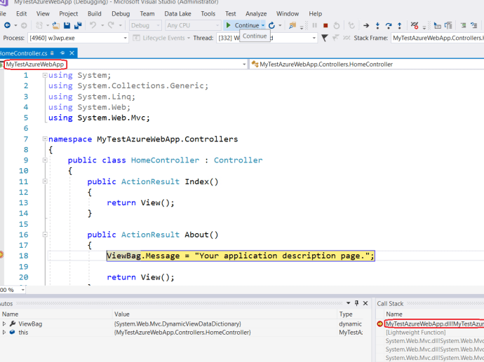 Debug Solution on Azure VM