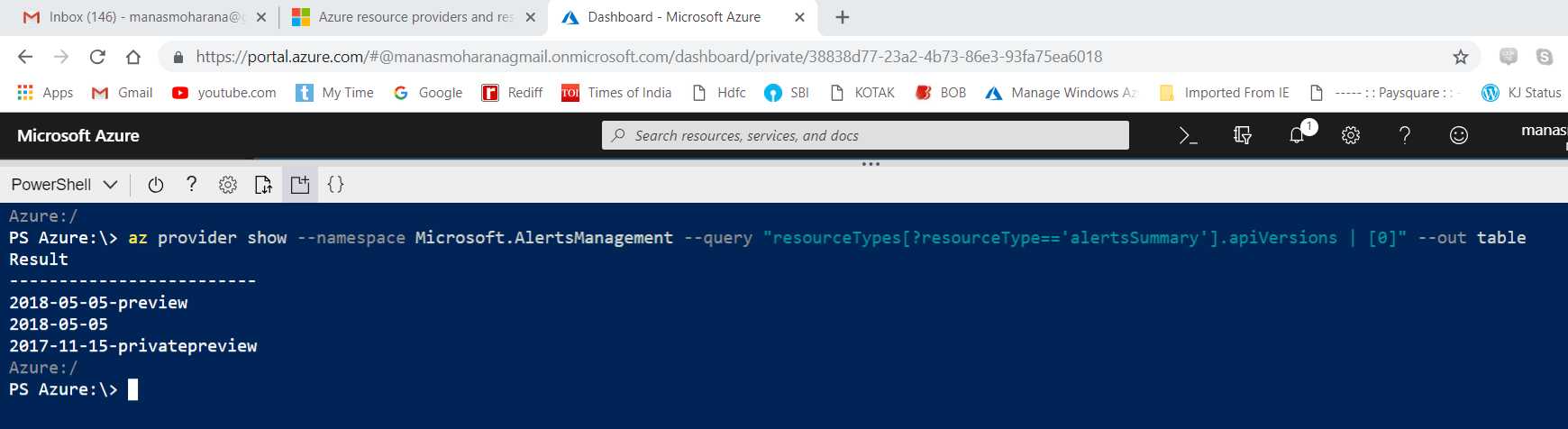 New Resource Provider resistered