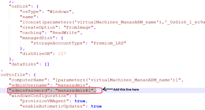 Required parameter Adminpassword required issue fixes