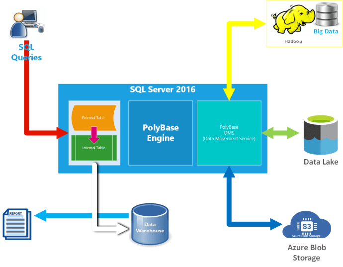 How PolyBase SQL can read Hadoop Data, Azure Data Lake Data and Blob Storage Data