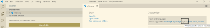 Python : Installing Python Support in Visual Studio Code