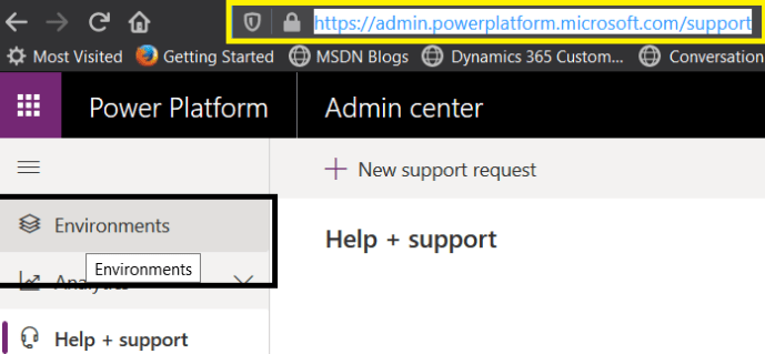Power Platform – Admin center