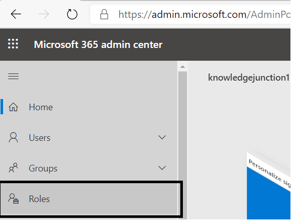 M365 - SharePoint Online - M365 Admin Centers >> Roles