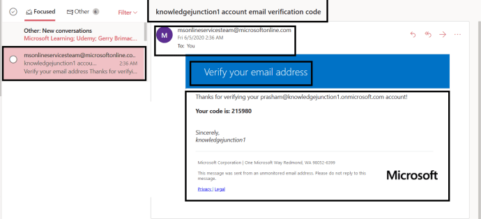 """Azure AD - Azure AD Portal - """"Active Directory Menu Blade"""" page - Password Reset >> Enabled SSPR >> Reset Password - Authentication Method - Email Verification - Verification Code received"""