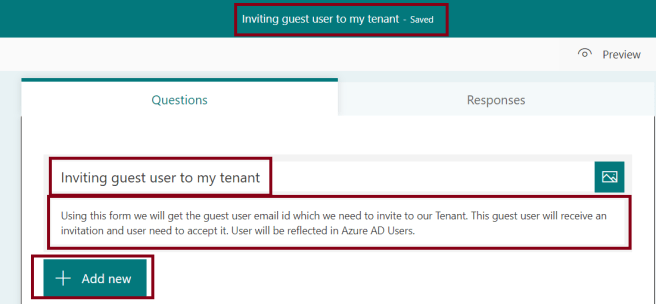 M365 - Microsoft Forms - Creating Quiz - Setting up Name and Description