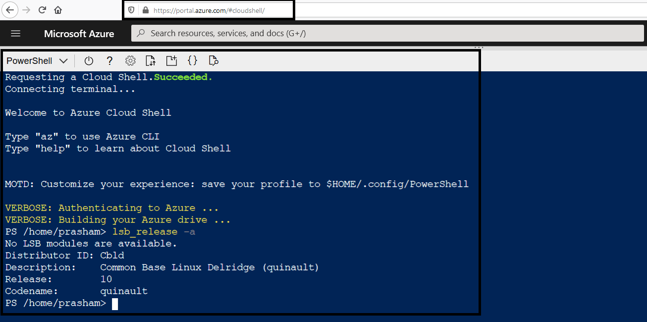 Azure Cloud Shell - Support to Python