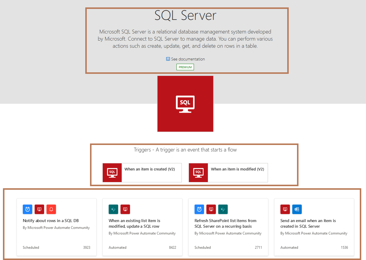 Power Automate - SQL Server connector