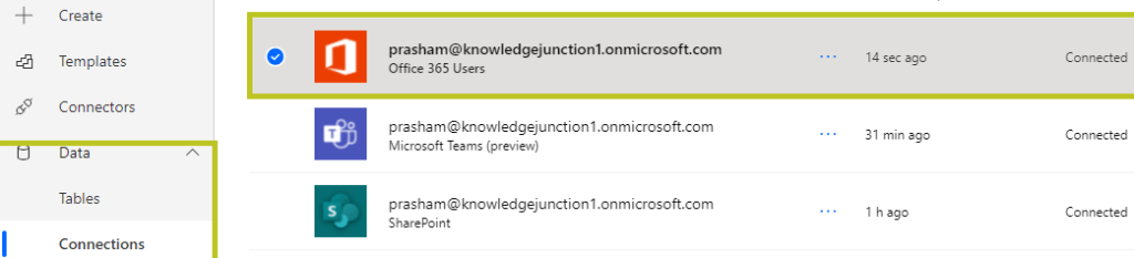 """Power Automate - Connection to """"Office 365 Users"""" get added successfully"""