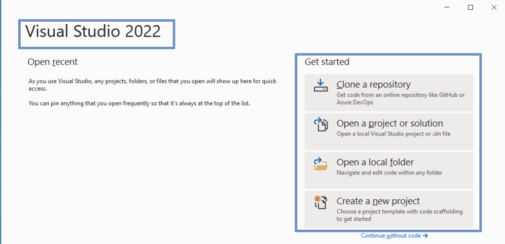 Visual Studio 2022 preview - Once everything done successfully we could start our development