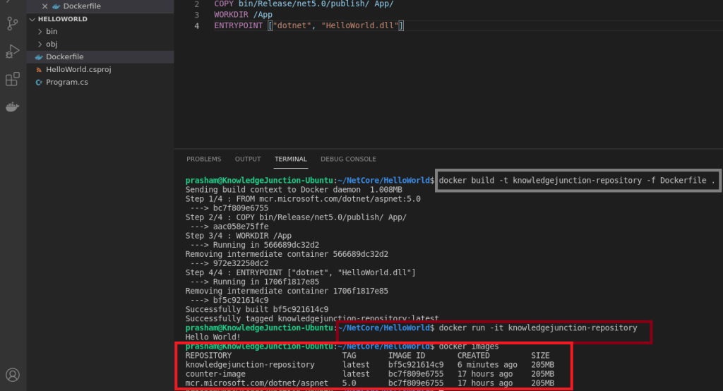 Executing Docker run command for our application - Container :)