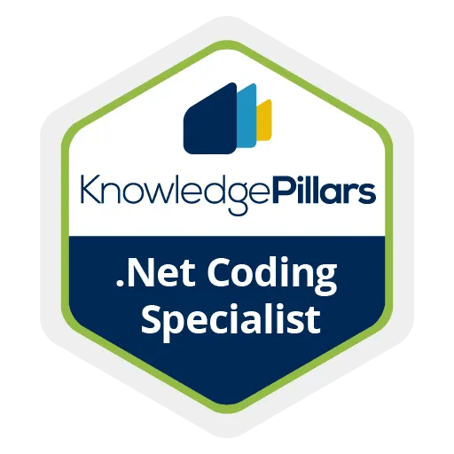 .Net Coding Specialist Badge