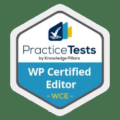 WordPress practice test badge