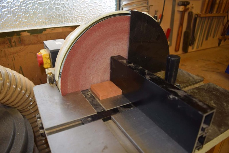 Sanding pieces to size