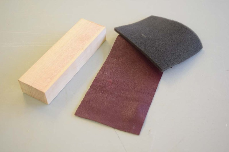 Foam, wood and leather for ring support