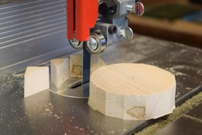 Bandsaw to circle shape