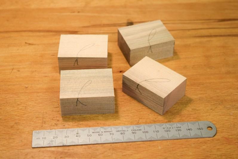 Four identical blocks