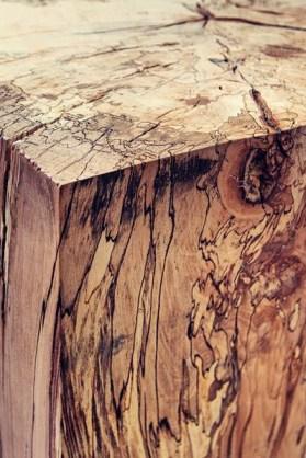 Grain detail of indoor table