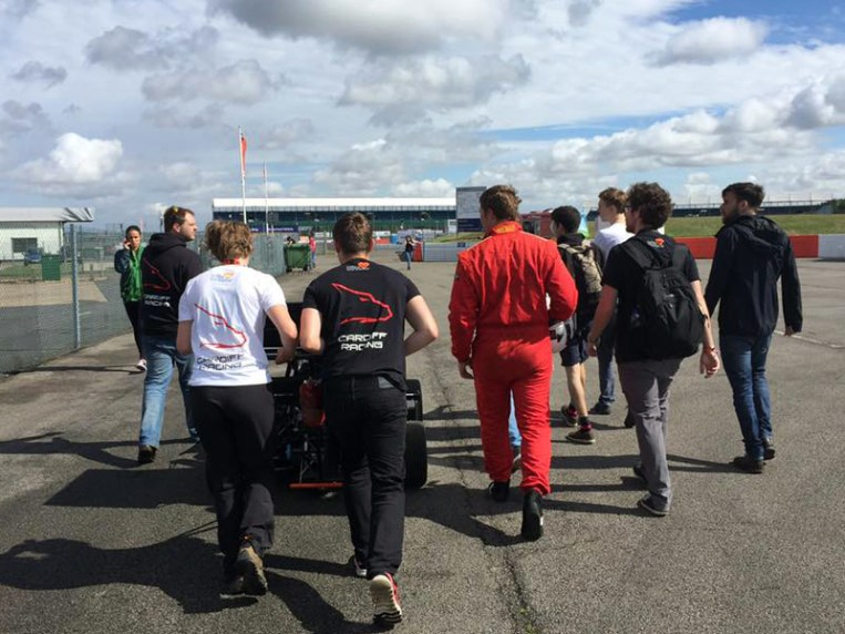 The Cardiff Racing team at Silverstone