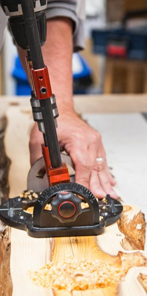 Drill guide at an angle