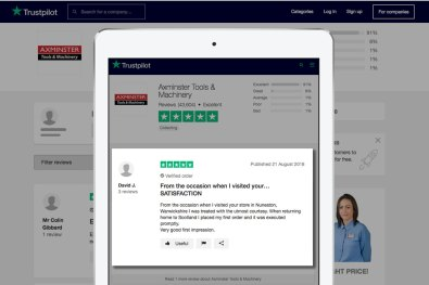 Trustpilot review - Very good first impression from Nuneaton Store