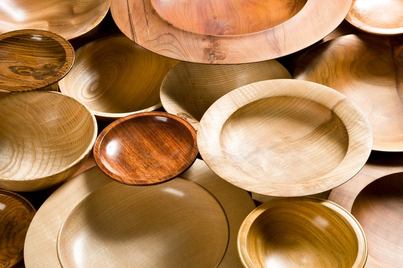 Turned bowls and platters