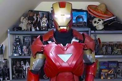 James Bruton In His Iron Man Suit