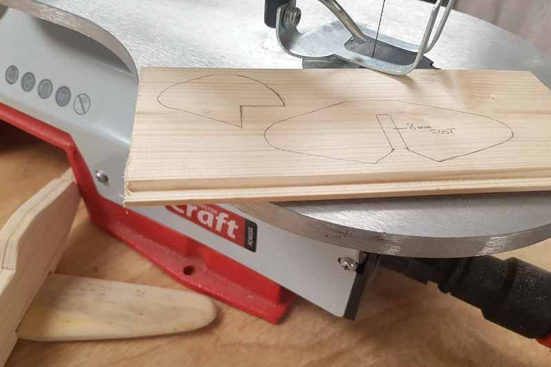 Part 3 – Mark out and cut the tail & rudder