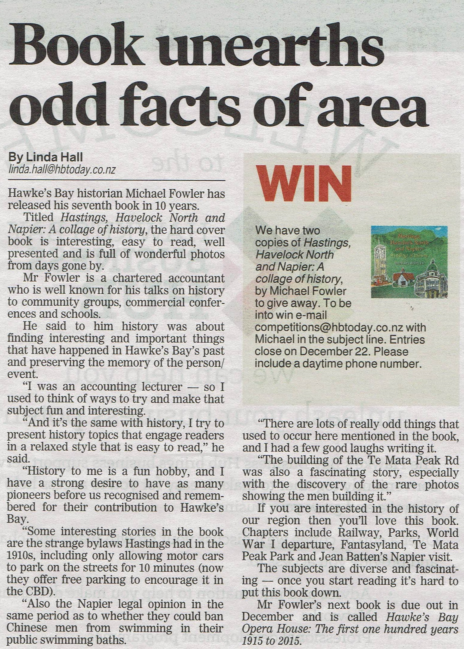 Newspaper Article Book Unearths Odd Facts Of Area