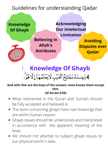 Believing In Allah's Decree (Qadar) (1)