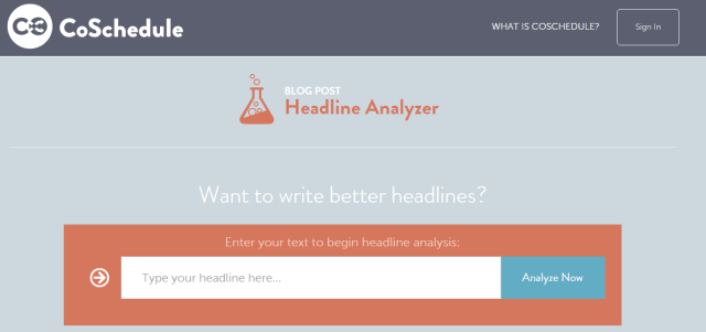 coschedule headline analyzer