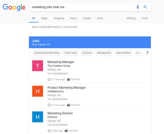 Marketing jobs near me