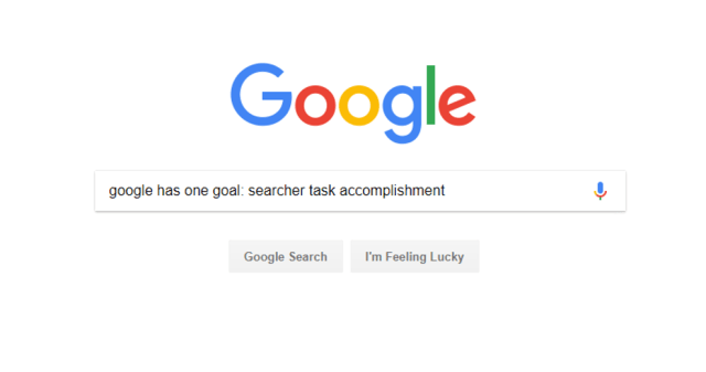 Google searcher task accomplishment