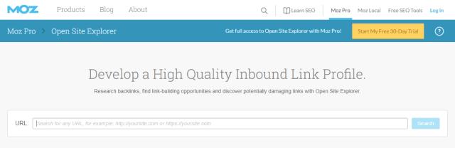 Moz Open Site Explorer