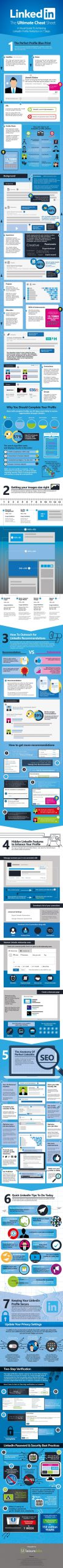 LinkedIn Profile Cheat Sheet Infographic compressed